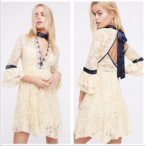 Free People Gilded Lace Minidress